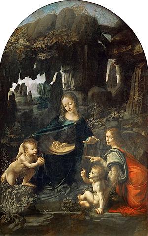 La Vergine delle rocce, Leonardo da Vinci.